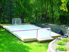 Skate In Your Backyard This Spring & Summer! Skate In Your Backyard This Spring & Summer! Hockey Pads, Rink Hockey, Goalie Pads, Hockey Mom, Hockey Stuff, Hockey Rules, Summer Diy, Spring Summer, Inline Hockey