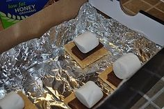 Make s'mores with the heat of the sun!