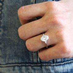 Oval engagement ring simple