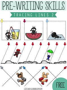 Free tracing lines activities for your child's fine motor skill development!