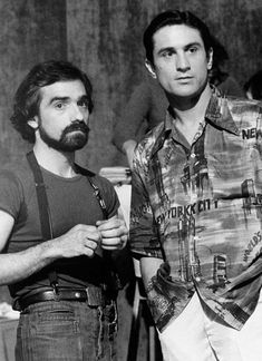 Martin Scorsese and Robert De Niro filming 'New York, New York', 1977.