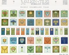 Malkin Tile Works Co The Malkin Tile Works Company, Ltd. Burslem: The Malkin Tile Works Company Ltd., c1910 Trade catalog featuring encaustic, mosaic and wall tile designs manufactured by the Malki…