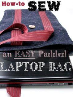 Serger Pepper - Padded Laptop Bag Tutorial - bags, work, school, balenciaga, kate spade, weekend bag *ad