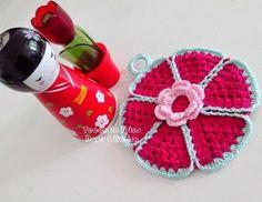 Tecendo Artes em Crochet: Pegador de panelas