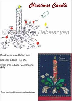 Christmas Candle on Craftsuprint designed by Anna Babajanyan - This is a very…