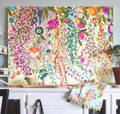 Flowering vines acrylic on canvas fine art painting. Dreams of the south. Art Collector