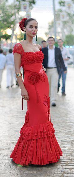 Flamenco dress, Fair of Seville Flamenco Costume, Flamenco Dancers, Flamenco Party, Flamenco Dresses, Spanish Fashion, Spanish Style, Mexican Fashion, Fashion Line, Love Fashion