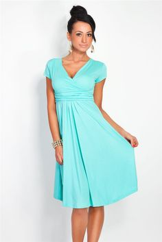 18ff16303dde1 high waist V-neck knee-length Candy color dresses New fahion summer style  2015 casual women plus size simple dress vestidos(China (Mainland))