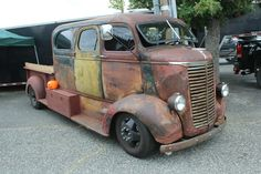 1939 Chevrolet COE Custom, Latter Grill, Safari Windshield, 6 Seater Crew Cab with Suicide Doors - Rat Rod