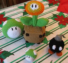 crochet mario stuffies. and now i know what i'm making for Christmas!