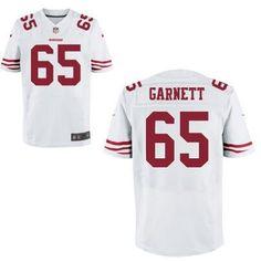 Men's San Francisco 49ers #65 Joshua Garnett Nike White Elite 2016 Draft Pick…