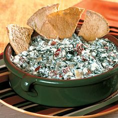 Slow-Cooker Cheesy Spinach-Artichoke Dip | CookingLight.com