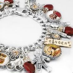 """My jewelry store features handmade jewelry, charm bracelets, necklaces, earrings, this beautiful """" Gingerbread Man"""", charm bracelet and over 400..."""