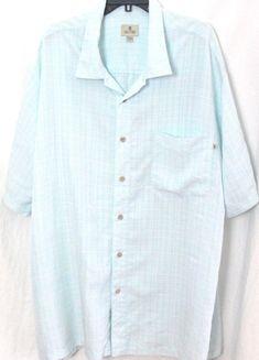 Men's Solitude XLT Shirt Button Front Short Sleeve Light  Blue Top Modal rayon  #Solitude #ButtonFront