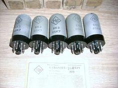 5 St HF Röhren 6SK7 6K3 Unbenutzt mit OVP Old tubes 6 SK 7