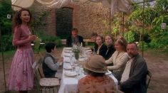 a dinner party like this one in 'Chocolat'