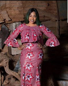 The complete collection of Exotic Ankara Gown Styles for beautiful ladies in Nigeria. These are the ideal ankara gowns Ankara Skirt And Blouse, Ankara Dress Styles, African Fashion Ankara, Latest African Fashion Dresses, African Dresses For Women, African Print Fashion, African Attire, Blouse Styles, African Women