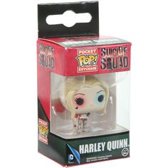 Hot Topic Funko DC Comics Suicide Squad Harley Quinn Pocket POP! Key... ($5.62) ❤ liked on Polyvore featuring accessories, multi, mini key ring, fob key chain, mini key chain, ring key chain and key chain rings