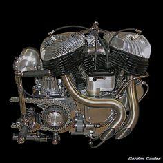 NO 20: VINTAGE INDIAN MOTORCYCLE ENGINE   by Gordon Calder