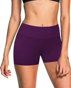 d549f887ad Inseam Yoga Shorts Running Shorts Out Pocket Inner Pocket Workout Fitness  Active Wicking Tummy Control