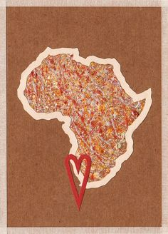 'africa heart' handmade postcard designs #postcard #handmade #paper #craft #southafrica Postcard Design, Craft Projects, Quilts, My Love, Paper Craft, Postcards, Africa, Handmade, Crafts