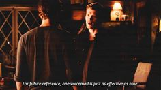 Klaus kills it with his one liners sometimes! The Vampire Diaries humor. Funny TVD quote.