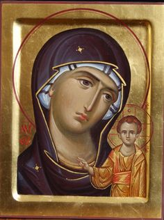 Theotokos by Anton & Ekaterina Daineko Religious Icons, Religious Art, Stella Art, Mama Mary, Blessed Mother Mary, Byzantine Icons, Virgin Mary, Madonna And Child, Art Icon