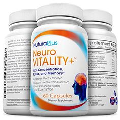 Neuro Vitality Brain Function Booster - Ultimate Natural Nootropic for Sharper Focus & Memory, Improved Mood & Mental Clarity. Superior Ginko Biloba complex with St John's Wort & Bacopin - Guaranteed. Rating 4.3 out of 5 stars, 92 customer reviews