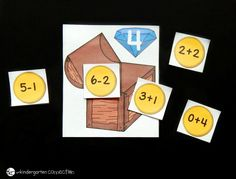 This fun, pirate-themed treasure chest math facts sort makes a great math center for Kindergarteners or First Graders to work on math facts to Math Classroom, Kindergarten Math, Pirate Activities, Math Board Games, Task Boxes, Pirate Theme, Math Facts, Early Education, Treasure Chest