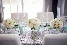 Silver and blue wedding ideas | Azul y plata como ideas de bodas