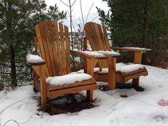 Out-of-season Muskoka Chairs