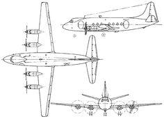 vickers viscount 701 cutaway drawing