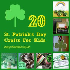20 St. Patrick's Day Crafts for Kids - #yesterdayontuesday #stpatricksday #stpatricksdaycrafts #greencrafts