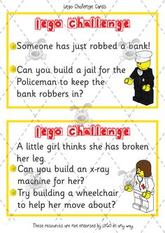 Teacher's Pet - Premium Printable Classroom Activities & Games - Classroom Resources, games and activities for Early Years (EYFS), Key Stage 1 and Key Stage 2 Lego Activities, Activity Games, Lego Challenge, Challenge Cards, Lego Therapy, Speech Therapy, Detective, Lego Club, School Clubs