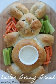 Bunny Bread and Vegetable Tray