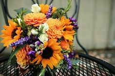 Orange and purple, one of my favorite color combinations