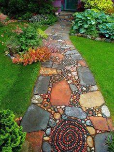 Top 10 Incredible Small Garden For Small Backyard Ideas - Alles über den Garten Garden Yard Ideas, Backyard Garden Design, Garden Paths, Garden Projects, Backyard Landscaping, Backyard Ideas, Landscaping Ideas, Walkway Ideas, Garden Decorations