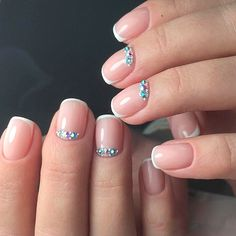 French Tip Nail Designs: Create Your Perfect Mani ★ See more: https://naildesignsjournal.com/french-tip-nail-designs/ #nails