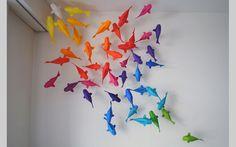Origami ikan sebagai hiasan rumah