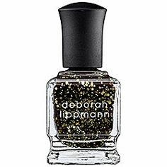 Deborah Lippmann - Nail Lacquer - Glitter in Cleopatra In New York - gold studded black  #sephora