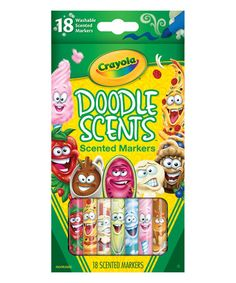 This Crayola Doodle Scent Marker - Set of 18 is perfect! #zulilyfinds