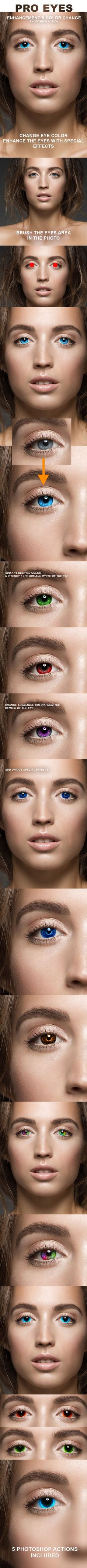 Pro Eyes Enhancement & Color Change - Photoshop Action. Download here: http://graphicriver.net/item/pro-eyes-enhancement-color-change-ps-action/16281841?ref=ksioks