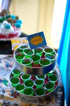 Superhero themed birthday party with SO MANY AWESOME IDEAS via Kara's Party Ideas | Cake, decor, cupcakes, games and more! KarasPartyIdeas.c...