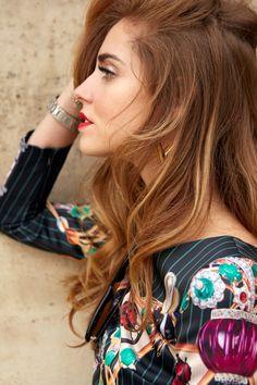 Chiara Ferragni spotted wearing the Essential V Earring.