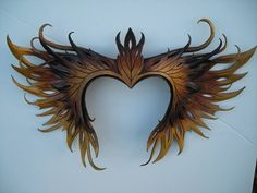 by Wing and Talon Leather Mask, Leather Gifts, Human Anatomy Art, Dragon Knight, Half Mask, Fantasy Costumes, Circlet, Super Hero Costumes, Royal Jewels