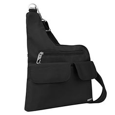 Travelon AntiTheft CrossBody Bag Black Two Pocket -- More info could be found at the image url.