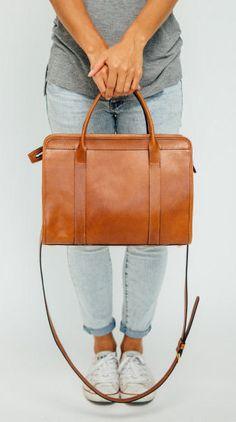 Leather Satchel / Tan Leather Bag / Berkley
