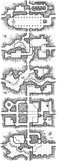 Five More Dungeon Business Cards! Fantasy City, Fantasy Map, Medieval Fantasy, Rpg 2d, Map Sketch, Sketches, Dungeons And Dragons 5, Pathfinder Maps, Adventure Map