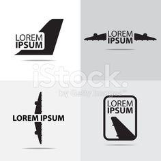 four different air plane logo design royalty-free stock vector art