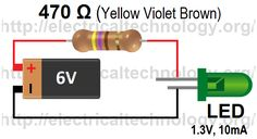 LED-simple-circuit-ever.how-to-calculate-the-value-of-resistor-for-LED